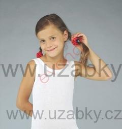110-Dívčí košilka (tílko) ANEZ - EVONA - barva bílá