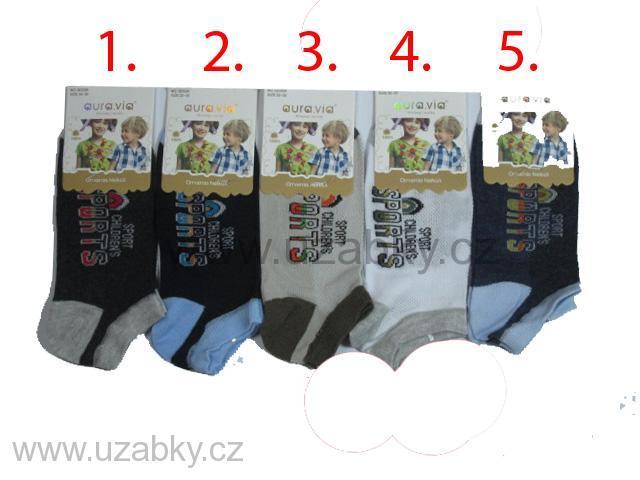 vel.32-35-Chlapecké kotníčkové bambusové ponožky AURA.VIA