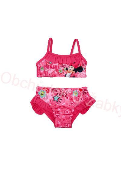 0a3bc777cc vel.98-116-Dívčí plavky Minnie - dvojdílné - tm.růžová barva ...
