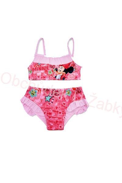 b8a97200c9 vel.98-128-Dívčí plavky Minnie - dvojdílné - sv.růžová barva ...