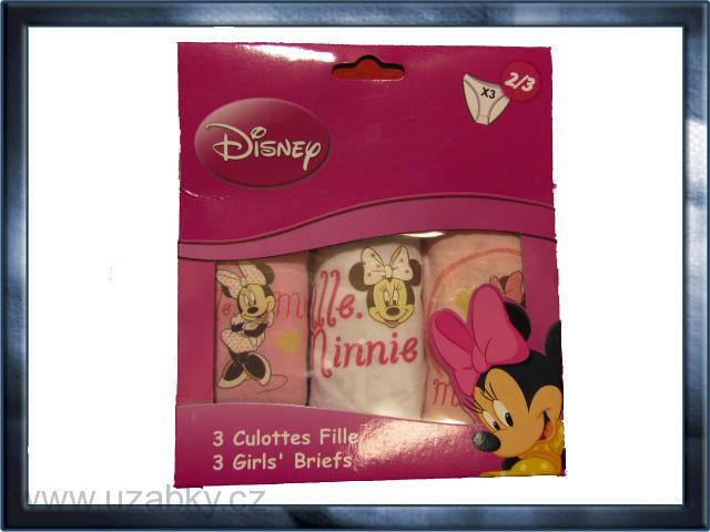 věk 6-8 - Dívčí spodní kalhotky Minnie - sada 3 kusů  e24f14f551