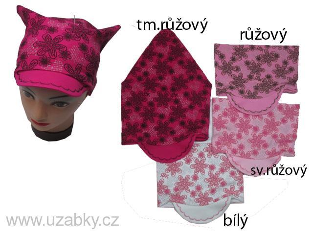 cd011b790a0 4-8 let-Dívčí šátek + kšilt - kytičky - RDX