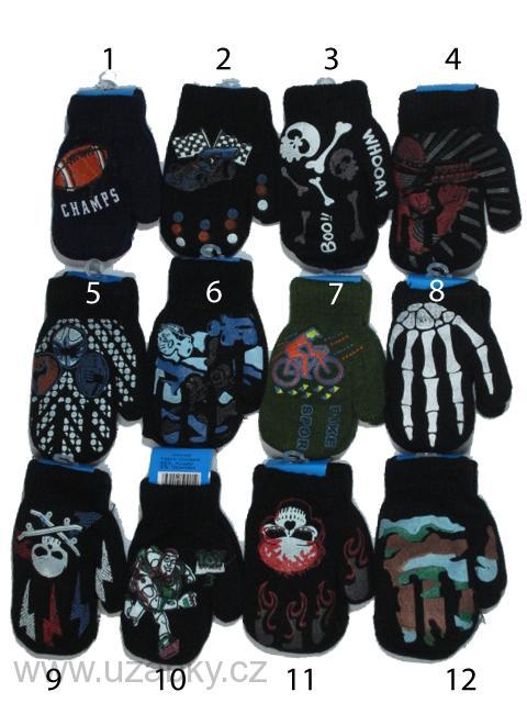 8a0e1d1fbdf Chlapecké zateplené pletené palcové rukavice