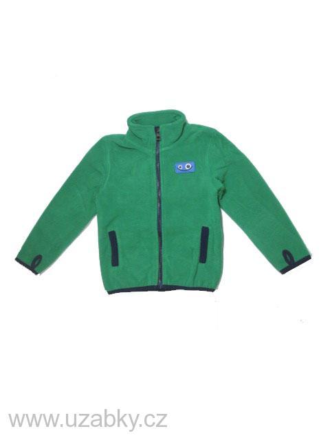 92-104-Chlapecká fleesová mikina WOLF - barva zelená fa6e473796
