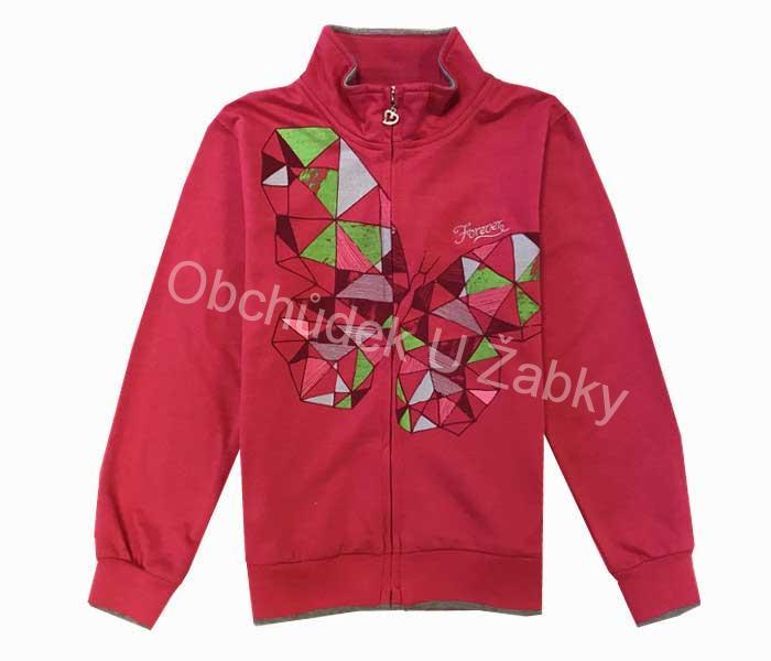 vel.134-164-Dívčí mikina KUGO - růžová barva 10276ea6b8