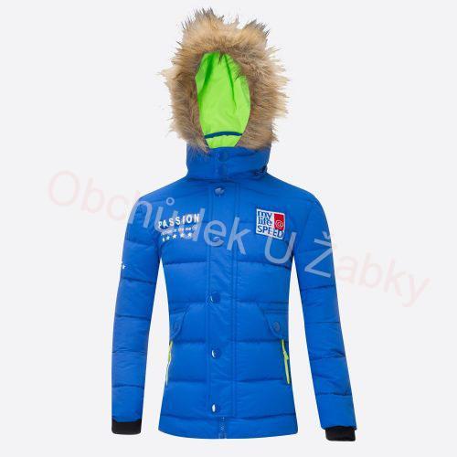 116-140-Dětská zimní bunda WOLF - modrá barva  c383922f47