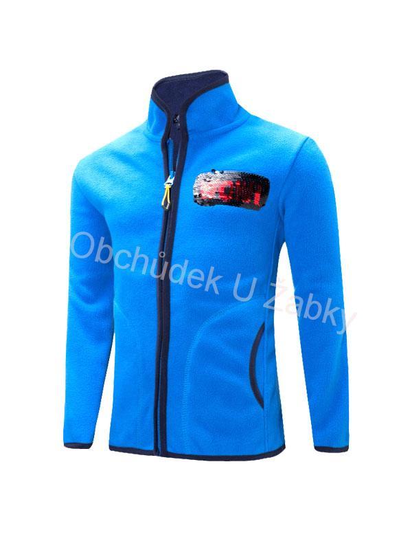 bb0e9d142d10 122-146-Chlapecká fleesová mikina WOLF - barva modrá