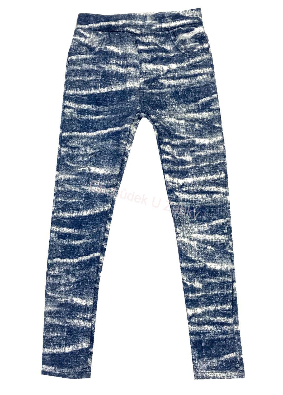 116-128-Dívčí thermo legíny KUGO - modrá barva  c8350dd321