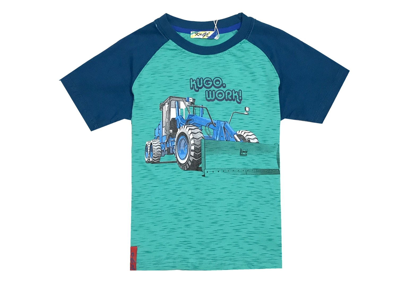 575479038a9 vel.98-128-Chlapecké tričko KUGO - krátký rukáv -zelená barva empty