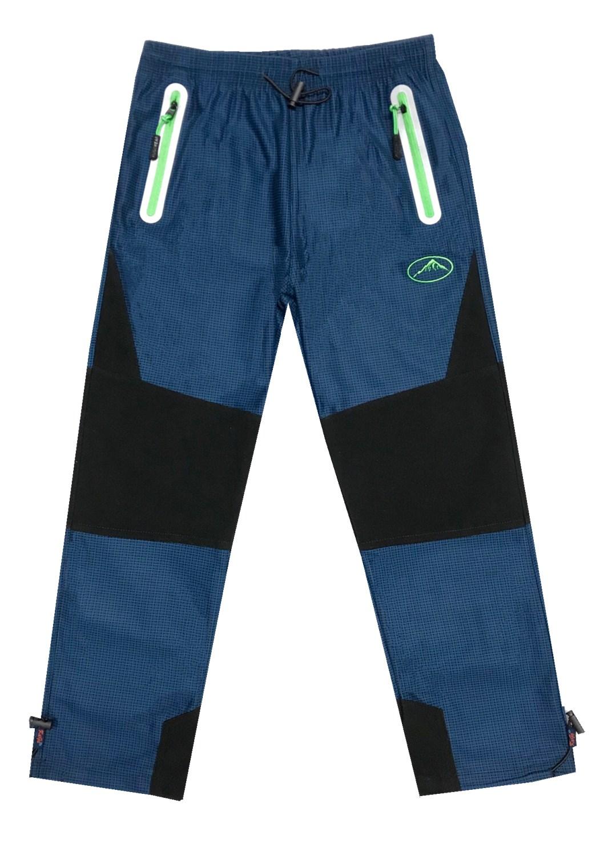 98-128-Dětské outdoorové kalhoty Kugo - modrá barva (zelené zipy) empty 7de59e6b7e