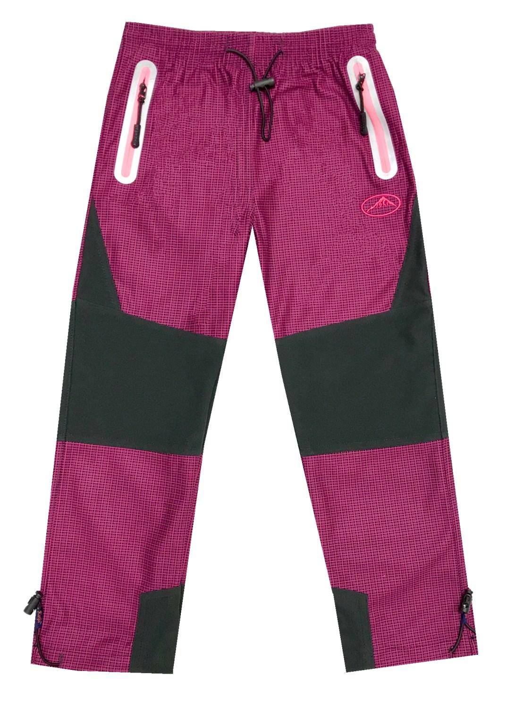 98-128-Dětské outdoorové kalhoty Kugo - růžová barva (oranžové zipy) empty 6c835012f7