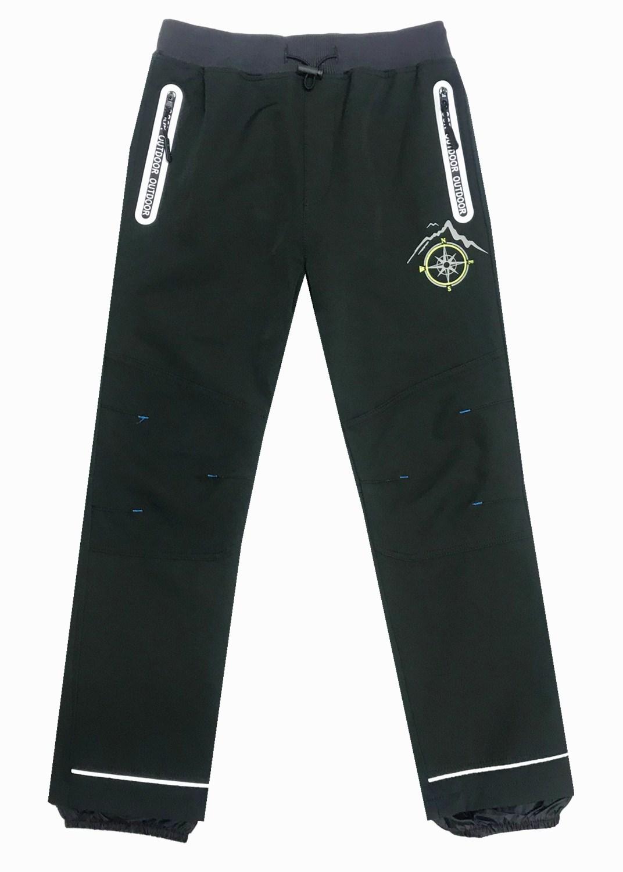ab1277d2a50 116-146-Dětské softshellové kalhoty KUGO - bez fleesu - černá (černý pas  empty