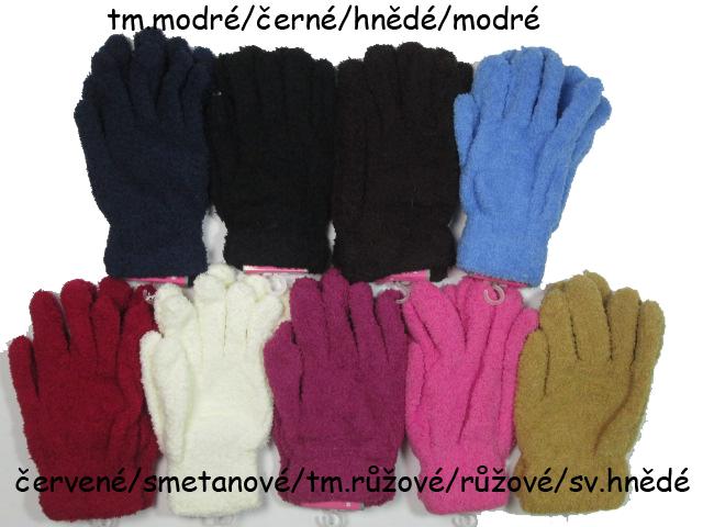 Dětské prstové rukavice chlupatky empty c22b155d36
