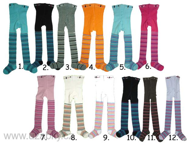 Dětské punčocháče s proužkem Design Socks vel.116-122