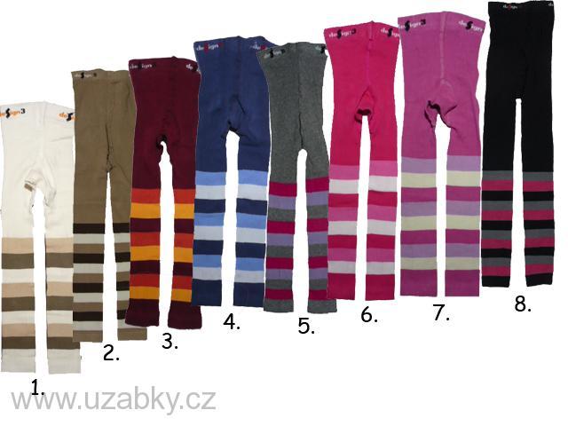 vel.128-134-Dětské legíny s proužkem Design Socks