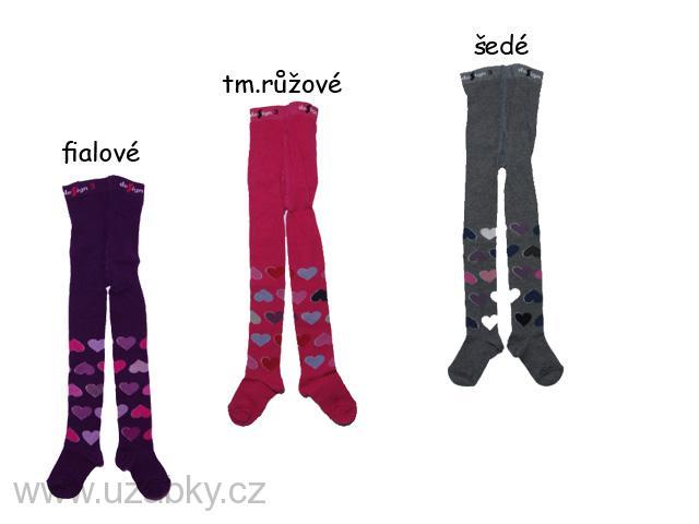 Dětské punčocháče srdíčka Design Socks - vel.92-98