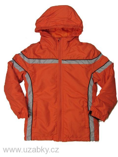 vel.122 (na visačce 134)-Dívčí zimní bunda Neverest - oranžová barva