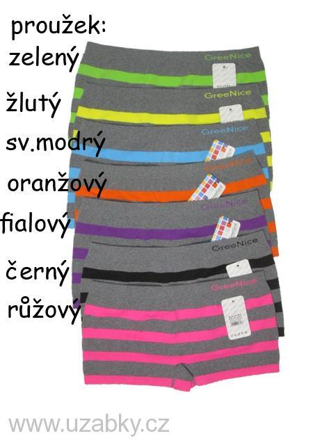 vel.XL/XXL-Dámské bezešvé(nohavičkové) kalhotky Greenice
