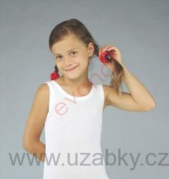 vel.128-Dívčí košilka (tílko) ANEZ - EVONA - barva bílá
