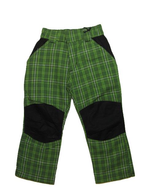 110-Dětské teplejší kalhoty Neverest - zelená barva