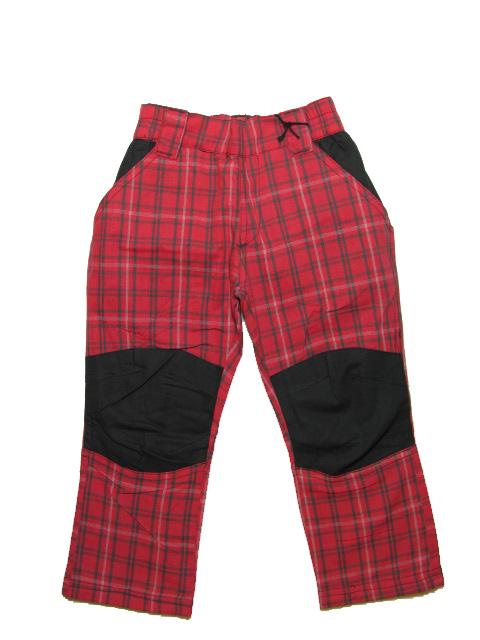 vel.146-Dívčí teplejší outdoorové kalhoty Neverest - červená barva