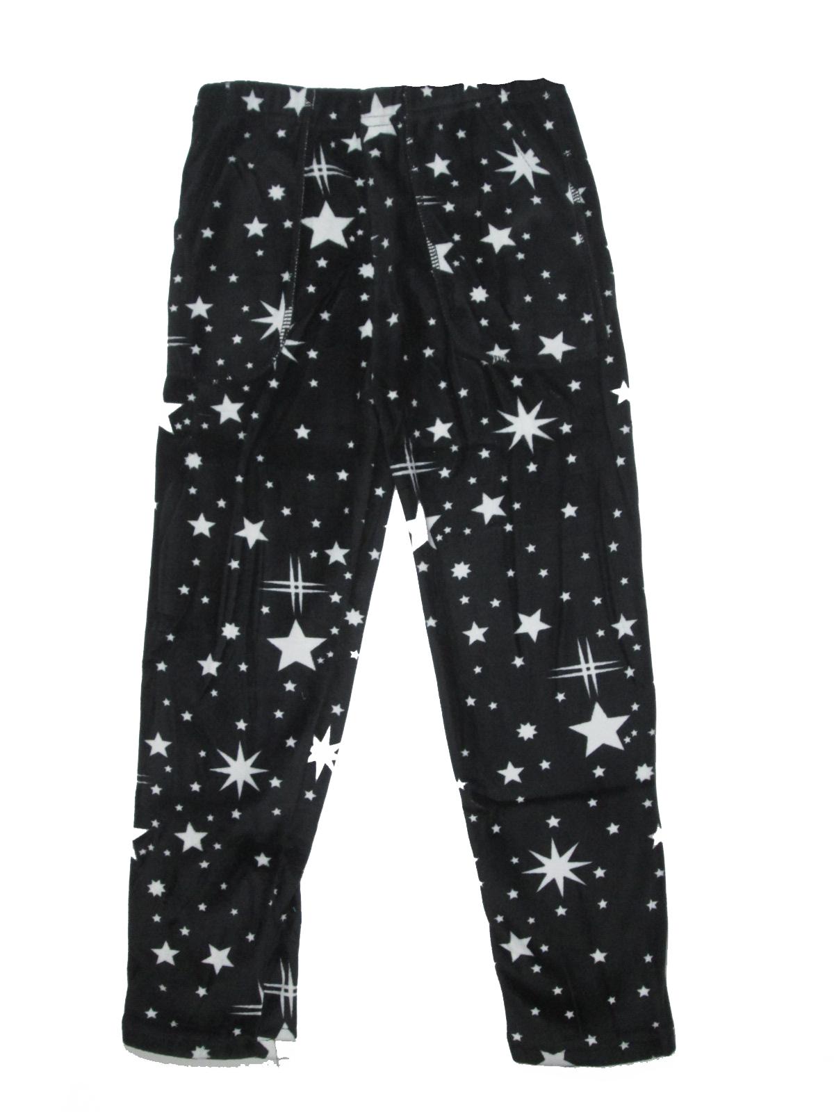 110-116,122-128-Dívčí thermo legíny W.D. - hvězdičky - černá barva