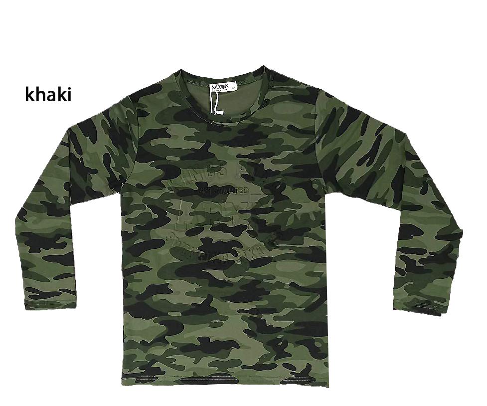 164-Chlapecké maskáčové tričko - dlouhý rukáv - SEZON 164