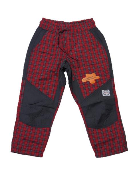 vel.158-Dětské kalhoty Neverest - červená kostka