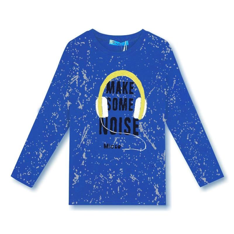 Chlapecké tričko KUGo - dlouhý rukáv - modrá barva 164
