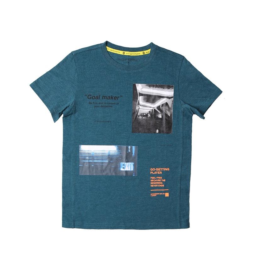 Chlapecké tričko WOLF - krátký rukáv - zelená barva 164