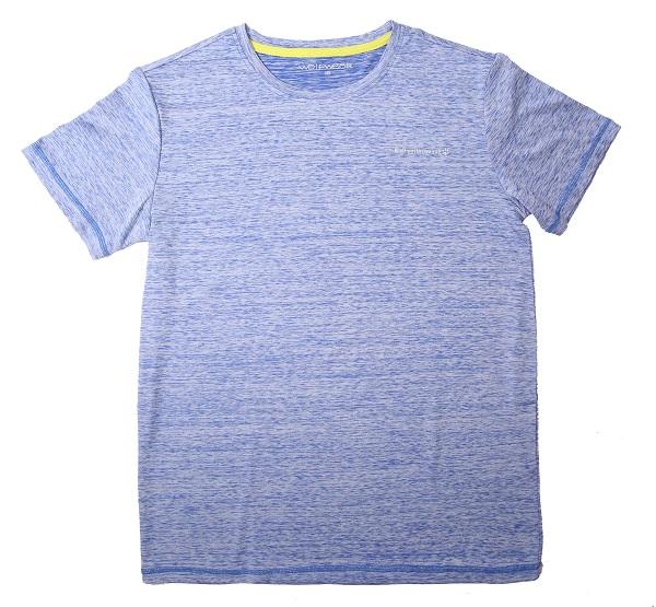 velikostní řada:134-164-Chlapecké funkční tričko WOLF - krátký rukáv - melírovaná modrá 164