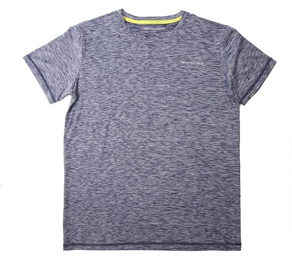 velikostní řada:134-164-Chlapecké funkční tričko WOLF - krátký rukáv - melírovaná tm.modrá 164