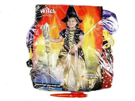 3-4 roky-Karnevalový kostým Čarodějnice v krátkých šatech