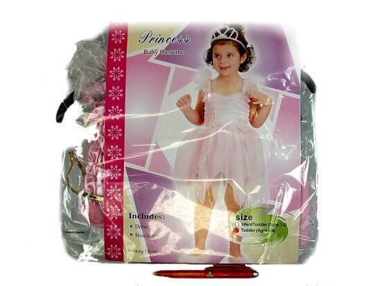 1-2 roky-Karnevalový kostým Víla v růžových šatech a čelenkou