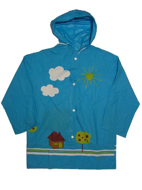 vel.116-128-BIAN dětská pláštěnka - modrá barva