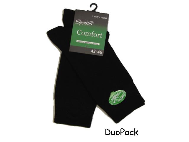 43-46-Pánské klasické bambusové ponožky černá barva