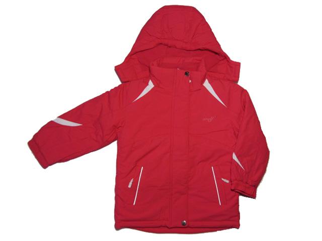 vel.110,122,140-Dívčí zimní bunda WOLF - červená barva