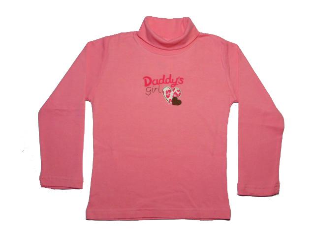 vel.128-Dívčí rolák WOLF - růžová barva