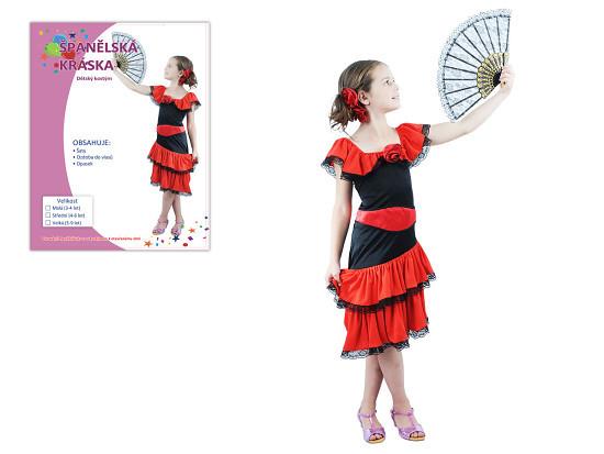 Karnevalový kostým Španělská kráska 4-6 let