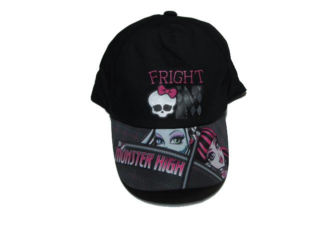obvod 54 cm-Dívčí kšiltovka Monster High - černá barva