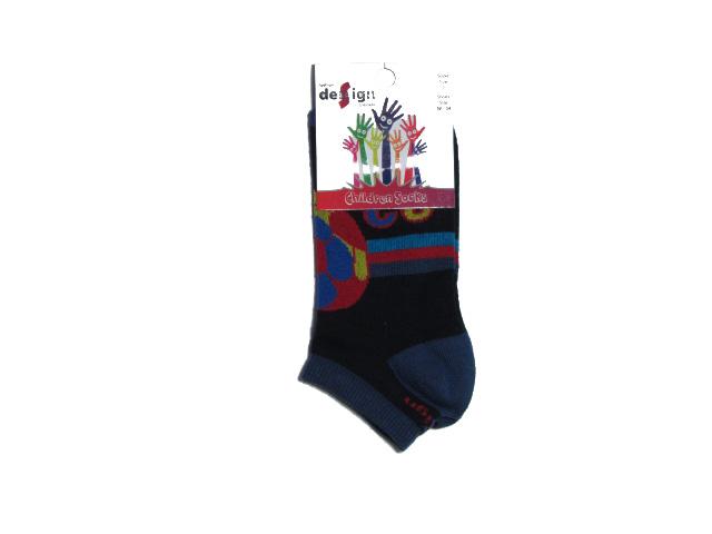vel.80-140-Dětské kotníčkové ponožky - kopací míč - barva tm.modrá