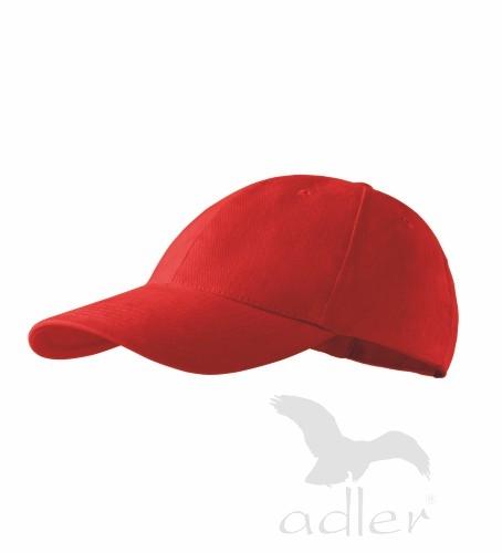 Dětská kšiltovka ADLER - barva červená - UNI VELIKOST