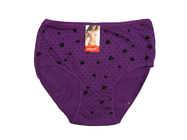 vel.L-Dámské spodní kalhotky - klasické - fialová barva
