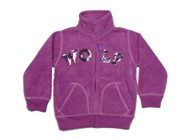 vel.98-Dívčí fleesová mikina WOLF - fialová barva