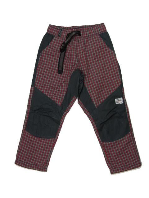 98,104,152-164-Dětské zateplené kalhoty Neverest - 100% bavlna- červená
