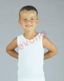 92,98,104,110,116,122,128,140,146-Chlapecké spodní tílko - bílá barva EVONA