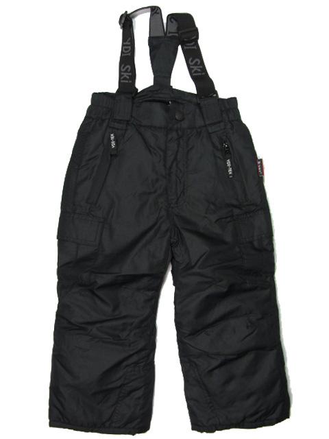 vel.116-122--Lyžařské zateplené kalhoty - YDI - černá barva