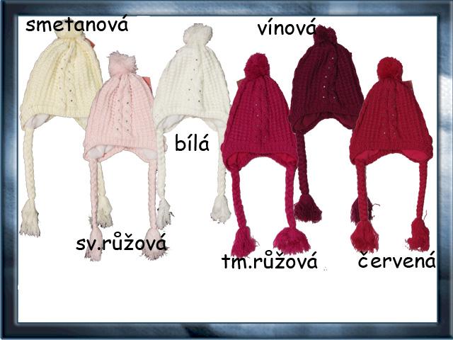 Dívčí zimní zateplená čepice 3-8 let