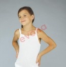 92-Dívčí košilka (tílko) bílá na ramínka EVONA-1 KUS!!