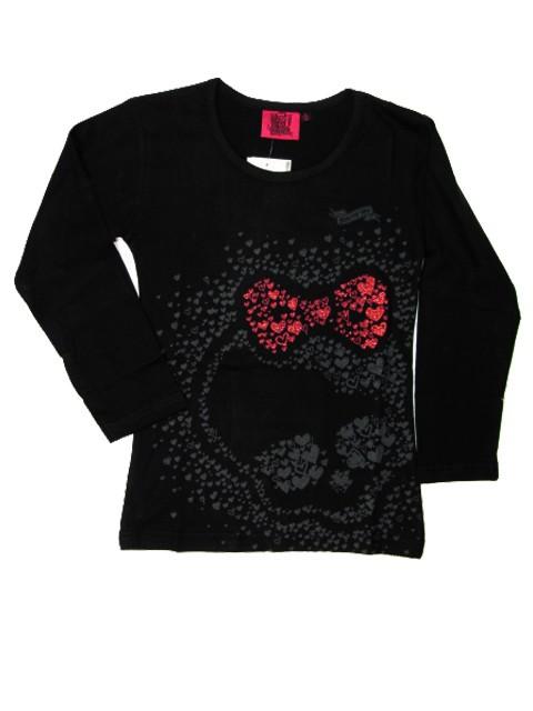 vel.116-Dívčí tričko Monster Hight - černá barva